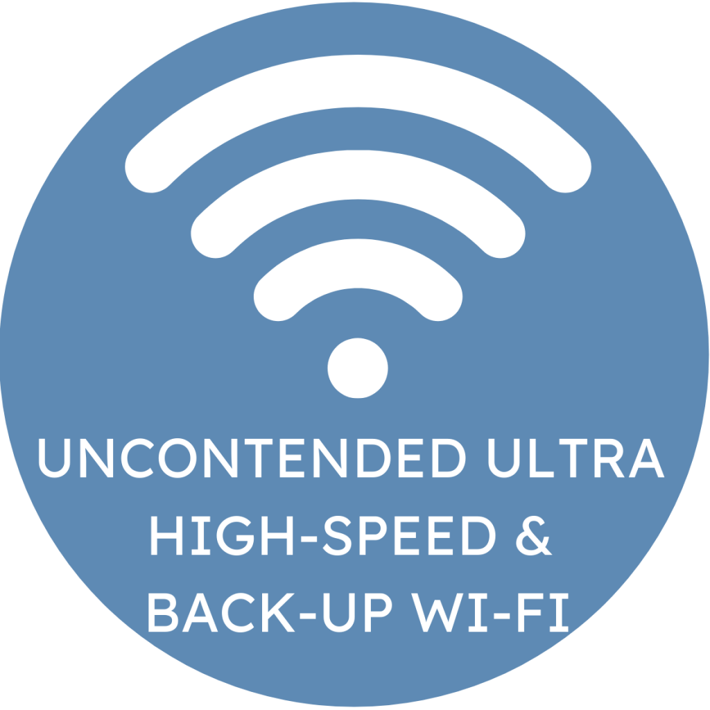 Spenbeck's creative space offers uncontended ultra-high-speed and back-up Wi-Fi to guarantee a fast and reliable connection
