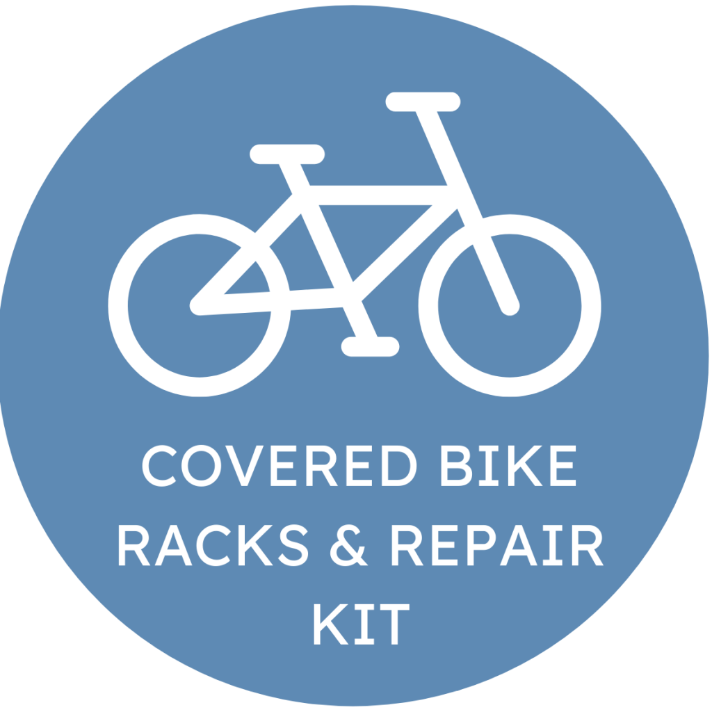 Covered Bike Racks & Repair Kit