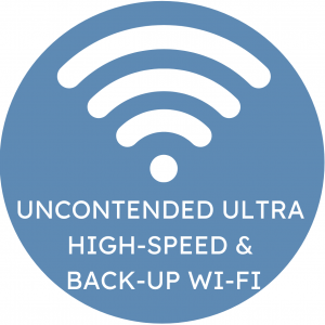 Uncontended Ultra High-Speed & Back-Up Wi-Fi